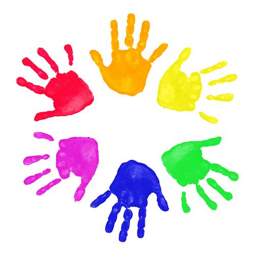 image of painted hands