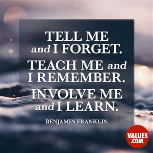 Portrait of Benjamin Franklin Quote